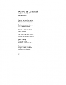 Manha de Carnaval – lyrics