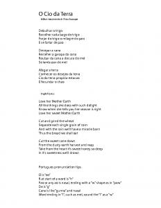 O Cio da Terra – lyrics