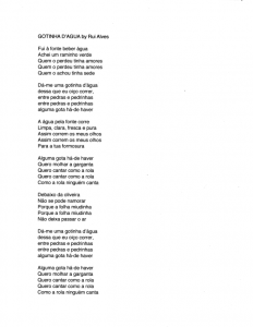 Gotinha d'Agua lyrics