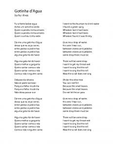 Gotinha d'Agua lyrics trans